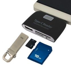 Card Reader Type-C 3.1 με θύρες SD/Micro SD/USB