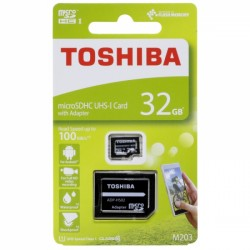Memory Card microSD TOSHIBA 32GB  CLASS 10 M203 UHS I με ADAPTER - TOS410959