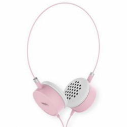 REMAX STEREO HEADPHONES WITH MIC RM-910 pink