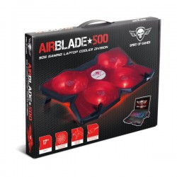 Spirit of Gamer Airblade 500 Cooling Pad, Κόκκινο