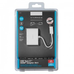 VIVANCO USB TYPE C 3 in 1 ADAPTER HDMI / HUB / CHARGING