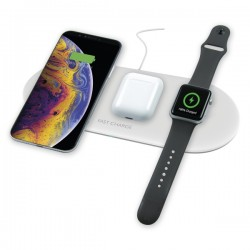 Ksix Qi STATION 3IN1 WIRELESS CHARGER FOR SMARTPHONE, AIRPODS AND APPLE WATCH 7.5W-10W white
