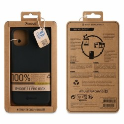 MUVIT RECYCLETEK IPHONE 11 PRO MAX black backcover