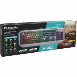DEFENDER GK-150DL STAINLESS STEEL WIRED STALKER MECHANICAL GAMING KEYBOARD black