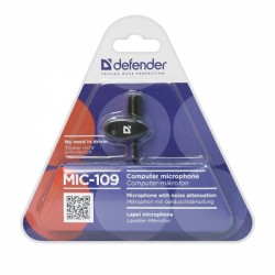 DEFENDER MIC-109 WIRED MICROPHONE FOR PC 1.8m
