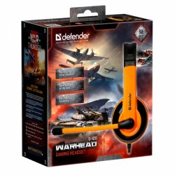 DEFENDER G-120 WARHEAD WIRED HEADSET 2m black orange