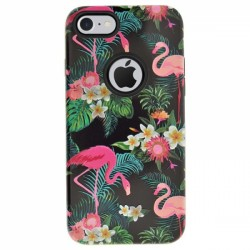 4OK Flamingo iPhone 7/8 Backcover - Μαύρο