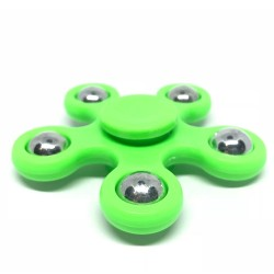 Fidget Spinner ABS Plastic 5 Leaves Πράσινο 2.5 min