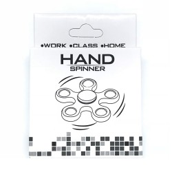 Fidget Spinner ABS Plastic 5 Leaves Κόκκινο 2.5 min